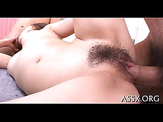 Wild anal dance for cute asian schoolgirl