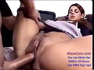 Hairy Indian school girl Marina fucking with her servant