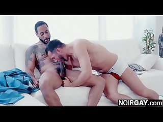Married guys have gay affair - interracial gay sex