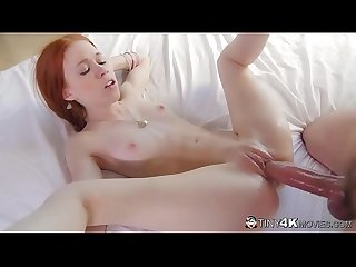 Cute Tiny Ginger Teen Dolly Little Sucks & Fucks A Colossal Cock