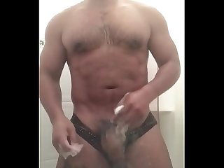 Capitan Vergarfio Showing his dick while take a shower