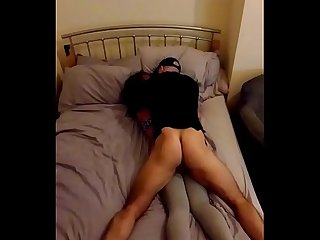 Wife fucks husbands best friend in their bed and films it all