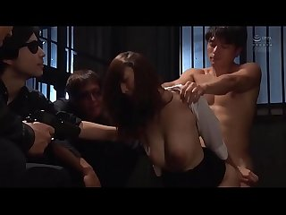 Gang bang in prison with super cute japanese