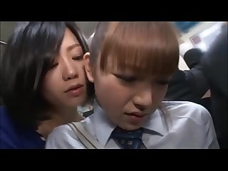 japanese girl gets molested in a train/ full video..